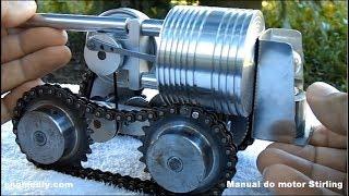 Міні танк алкоголем, не вимагає електрики, 2600rpm, з Двигуном Стірлінга!