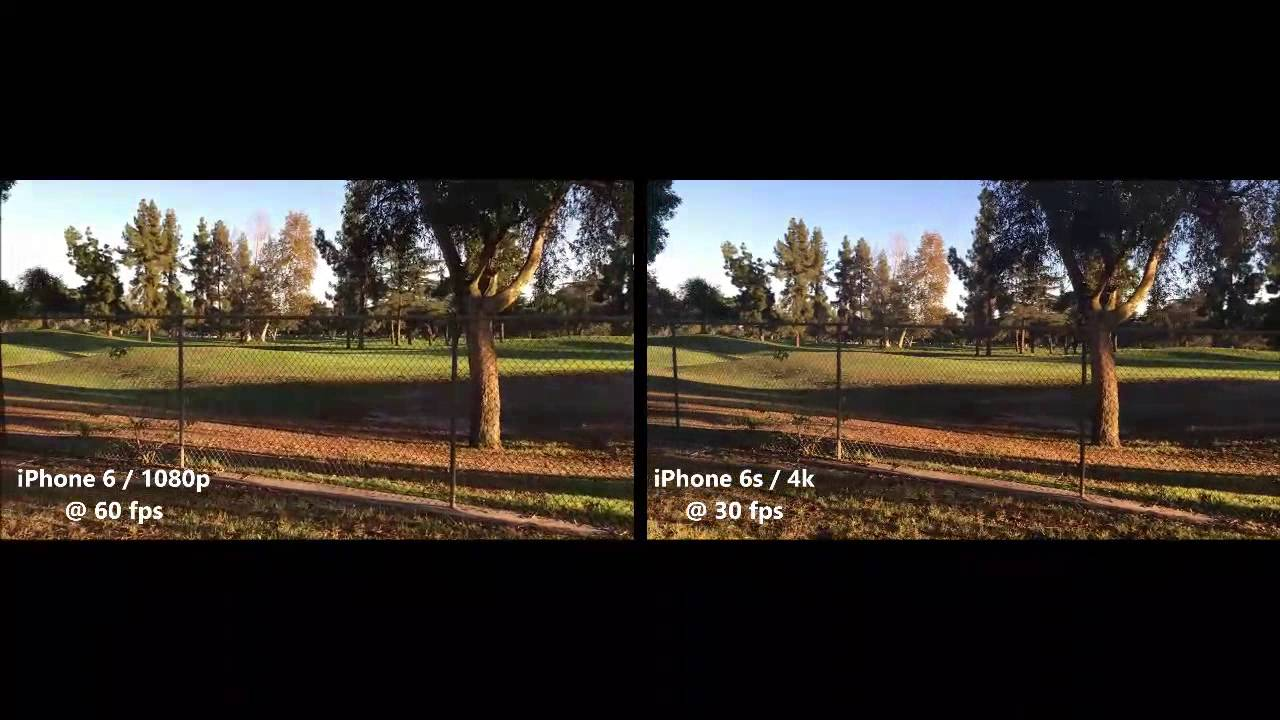 iPhone 6s 4k vs iPhone 6 1080p HD 60 FPS | Comparsion