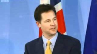 Nick Clegg speaking German