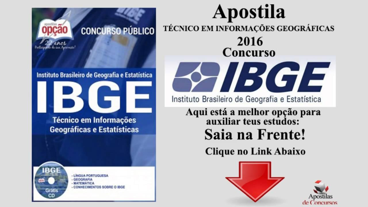 42ceb8c2e Apostila IBGE 2016 - YouTube