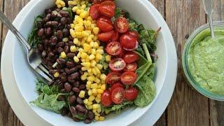 How to Make a Southwestern Black Bean Salad with Cilantro-Avocado Dressing