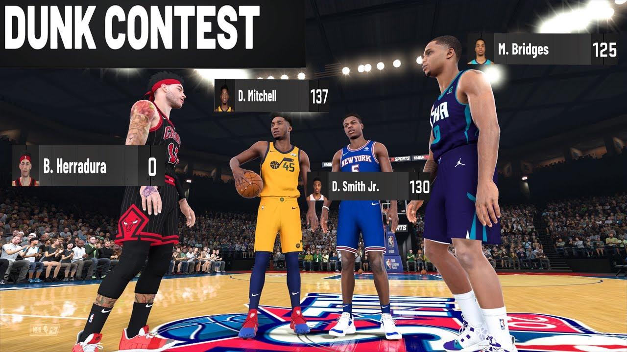 2021 NBA DUNK CONTEST Epic Fail 0 score | 1st Appearance | 2K20 My Career Ep.125