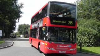 Route 215 London Buses at Lee Valley Campsite 1 August 2011