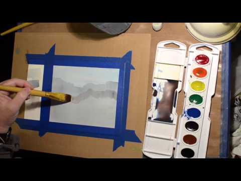 Watercolor Techniques 3 Flat wash landscape