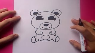 Como dibujar un oso de peluche paso a paso 9 | How to draw a teddy bear 9