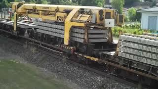 Schienenarbeiten der Deutschen Bahn bei Dietersheim - Teil 1