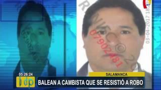 ATE: delincuentes desatan balacera para robar a cambista en Salamanca