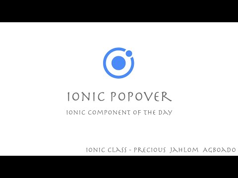 Ionic Component of the Day (Popover)