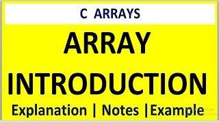 ARRAY INLEIDING IN HET PROGRAMMEREN IN C