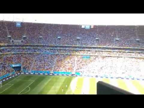 Argentinians in Brasilia National Stadium, Brazil, World Cup Quarter Final