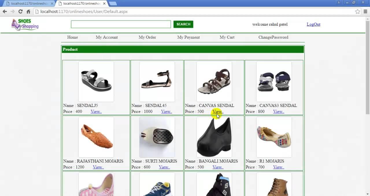 download online shopping website in asp net