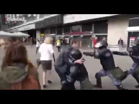 Видео задержания Устинова с другого ракурса