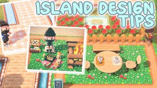 ISLAND DESIGNING TIPS (No timeskipping needed!) Animal Crossing New Horizons