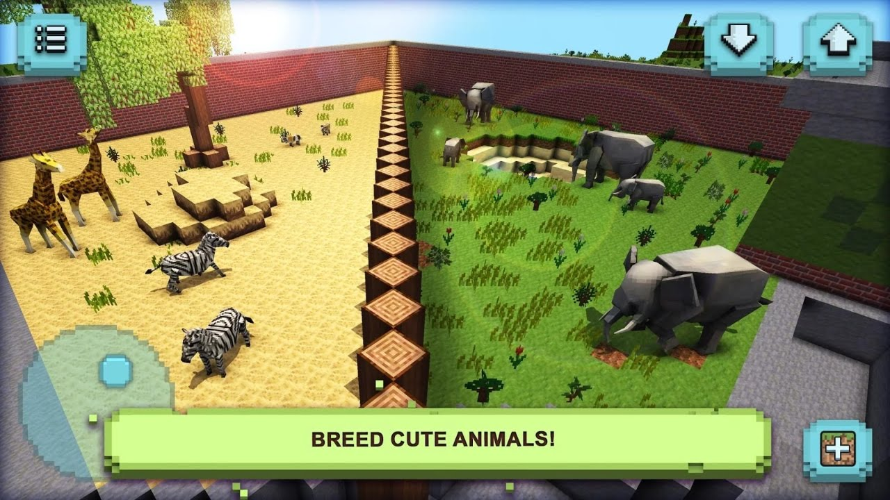 Zoo craft my wonder animals android gameplay youtube for Make a building online