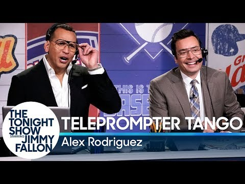 Gavin - Jimmy Fallon Does Teleprompter Tango with Alex Rodriguez
