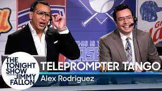 Teleprompter Tango with Alex Rodriguez