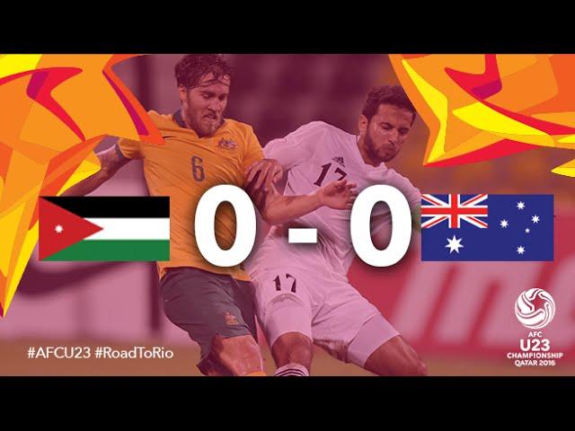 Video: U23 Jordan vs U23 Australia