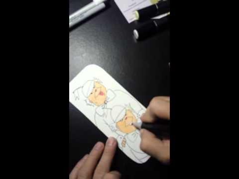 Drawing Tweedle Dee and Tweedle Dum