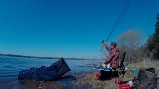 Рыбалка на Волге, фидер, конец апреля 2016(Удалось половить отборной плотвы, удовольствия масса. Каждая рыбка настоящий боец. По приезду( к закату)..., 2016-05-04T08:44:08.000Z)