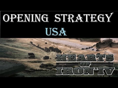 Hearts of Iron 4 Opener - USA starting strategy guide