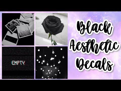 Roblox Bloxburg Black Aesthetic Decal Id S Youtube