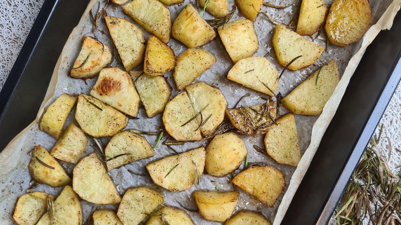 ROSEMARY ROASTED POTATOES  بطاطس بالروزماري في الفرن