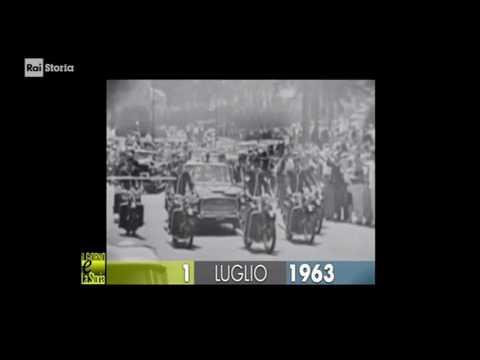 (Giorno & Storia) 1 luglio 1963 Roma: visita di stato di Kennedy., Presidente degli Stati Uniti