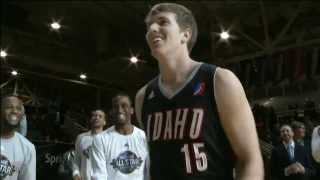 E.J. Singler wins NBA D-League three-point contest at the buzzer!