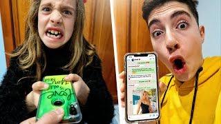 Le robo el móvil a mi hermana para hablar con su novio... *mala idea*