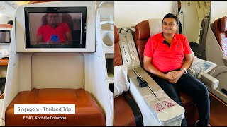 Singapore - Thailand Trip EP #1, Kochi to Colombo on Srilankan Airlines and transit in Srilanka