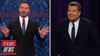 Jimmy Kimmel & James Corden Weigh In on Trump's 'The Republican Club' Portrait | THR News