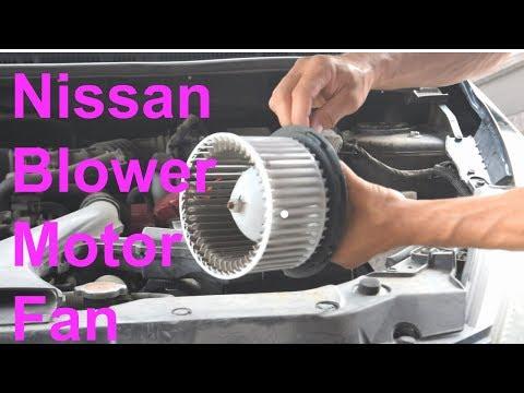 Nissan A/C & Heater Blower Motor Fan Replacement