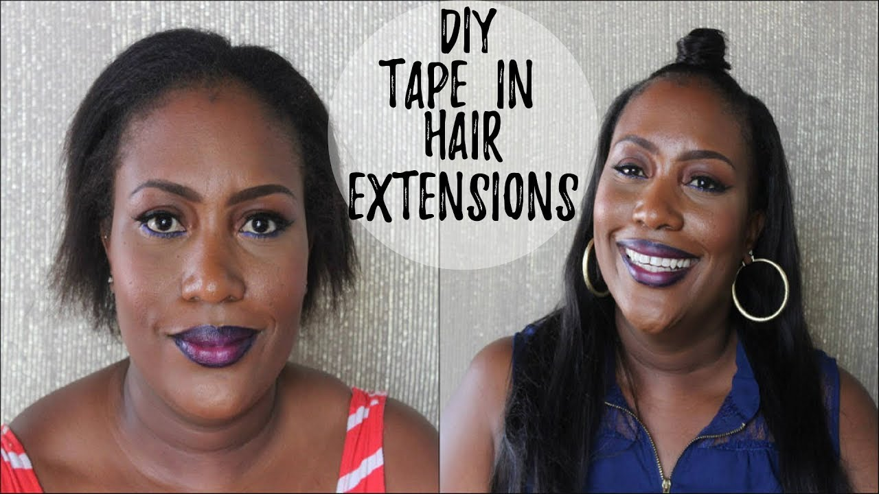 How To Apply Tape In Hair Extensions Youtube