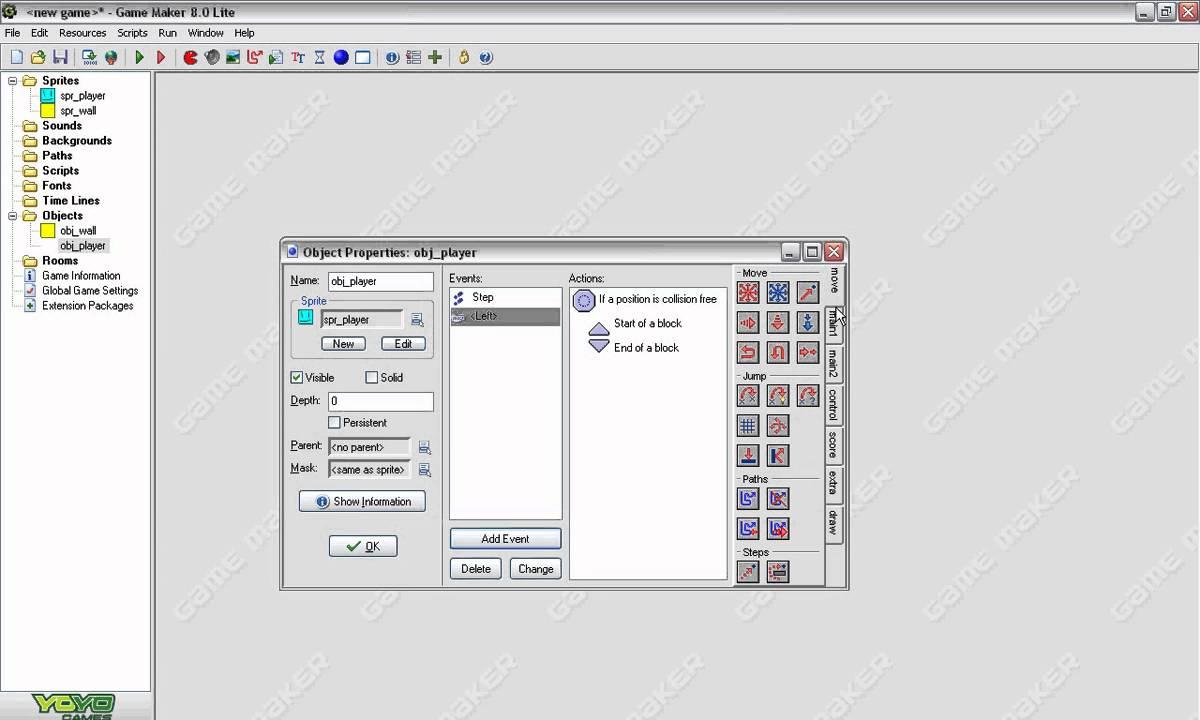 Simple Platform Tutorial on Game Maker 8