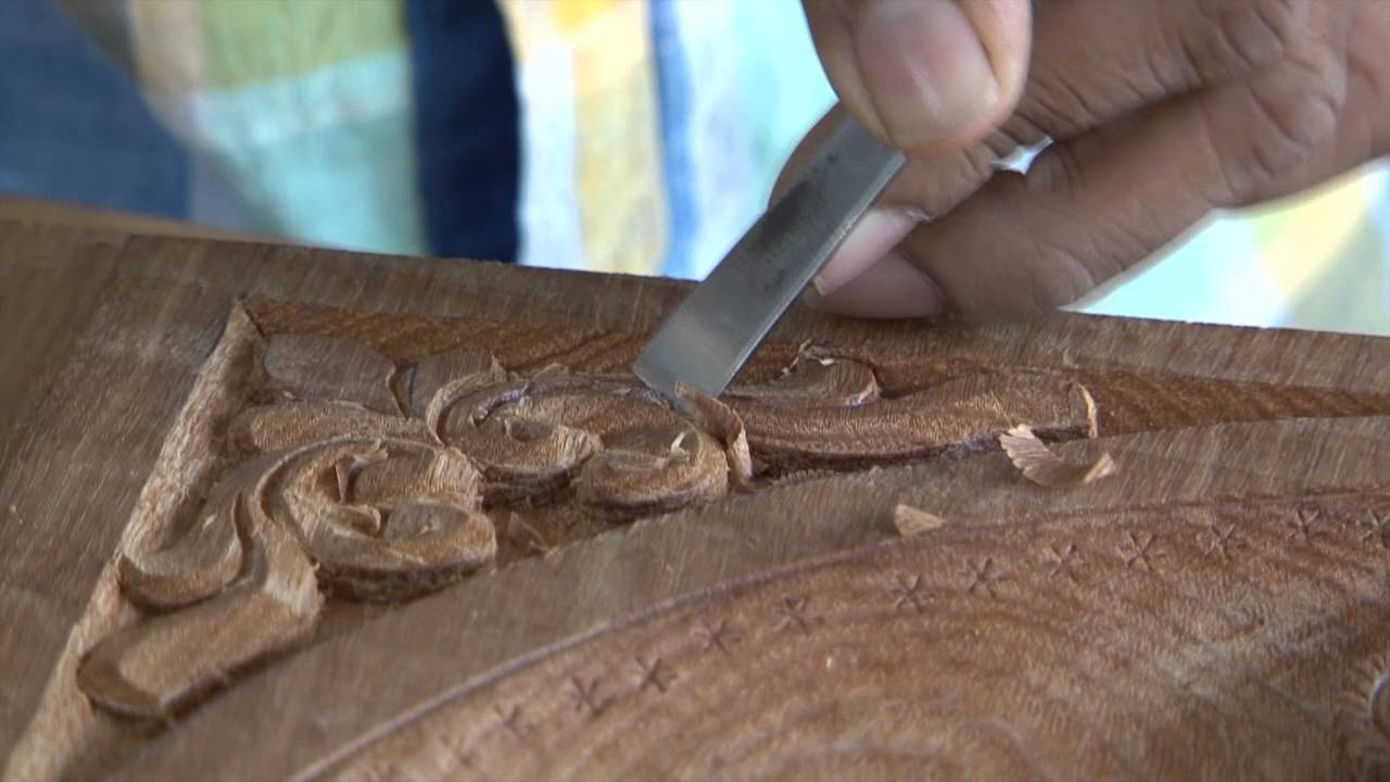 Wood Carving For Temples Kasargod Kerala Youtube