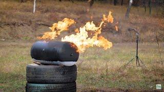 Такого не ждал никто! К чему привел  ВЫСТРЕЛ с АК по заправленному газом баллону.