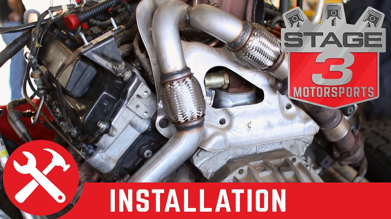 small resolution of 2003 2007 f 250 f 350 super duty 6 0l mbrp up pipe install youtube 2004 f 350 exhaust diagram