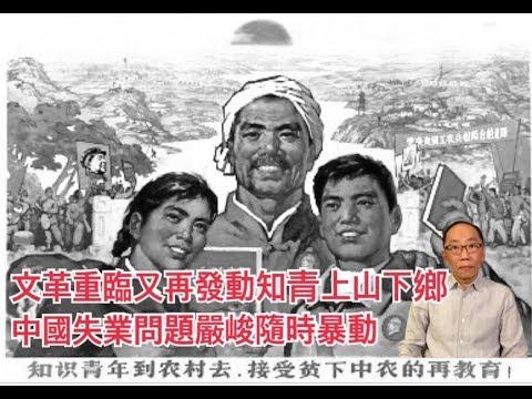 文革重臨又再發動知青上山下鄉 中國失業問題嚴峻隨時暴動 - YouTube