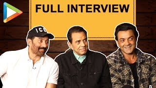 UNPLUGGED: Dharmendra, Sunny Deol & Bobby Deol get CANDID like never before