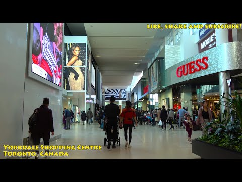 [4K] 2018 Yorkdale Shopping Centre (Mall) Toronto Canada Full Walking Tour