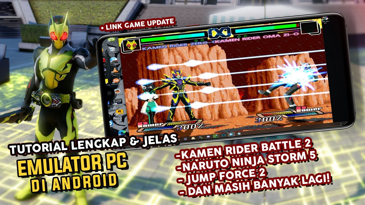 lengkap cara main game pc di android game kamen rider zero one offline