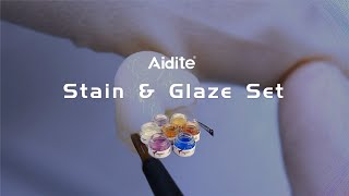 Aidite stain & glaze set