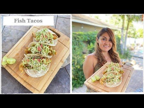 The Best Fish Taco Recipe | Fried Baja California Fish Tacos With Avocado Salsa