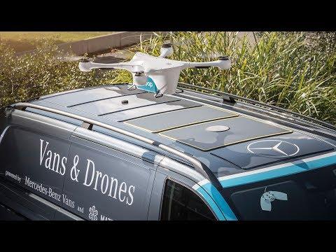 Mercedes-Benz Vans and Drones Delivery Service