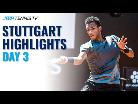 Auger-Aliassime Battles Harris; Hurkacz and Shapovalov In Action   Stuttgart 2021 Day 3 Highlights