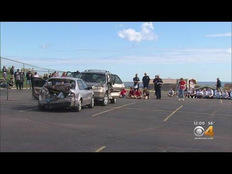 Green Mountain High School Senior Sets Up Mock DUI Crash Scenario