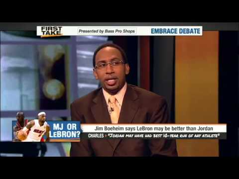 Charles Oakley talks NBA on First Take - Jordan the Greatest, NBA now a Soft League
