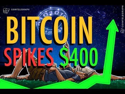 Bitcoin Spikes $400 - Liechtenstein Bank Issues Crypto Stable Coin - 'Blockchain Investment Bank'