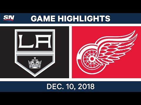 NHL Highlights | Kings vs. Red Wings - Dec 10, 2018