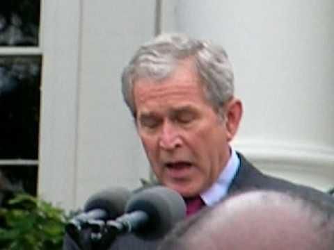 President Bush thanking the White House staff 11/6/2008